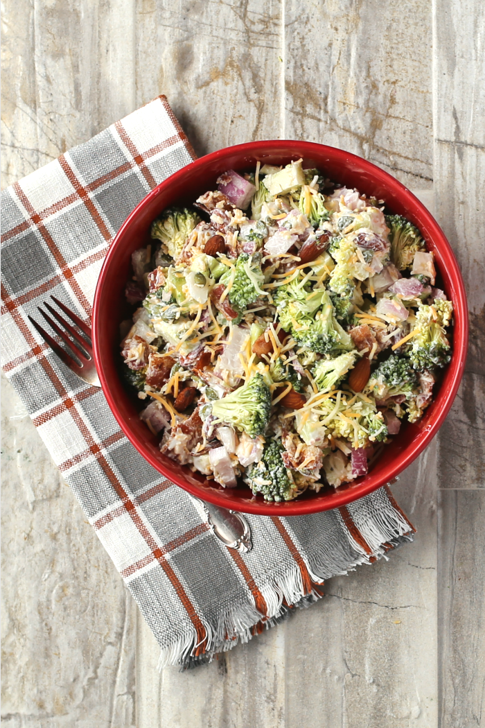 Keto Broccoli Salad With Bacon And Cheese Recipes Just 4u
