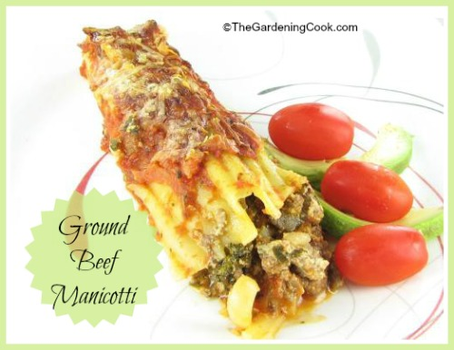 Ground Beef Manicotti