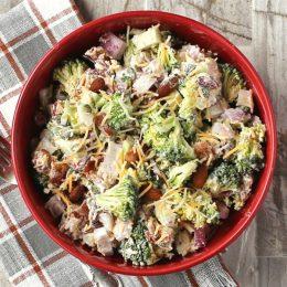 Bowl of keto bacon salad
