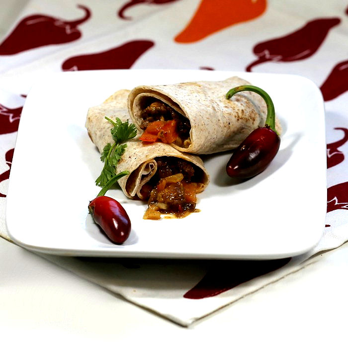 spicy beef mince wrap recipe