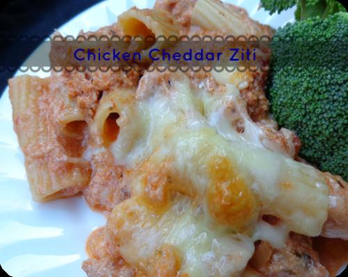 chicken cheddar ziti casserole