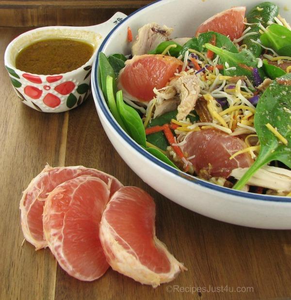 citrus salad with chicken grapefruit walnuts