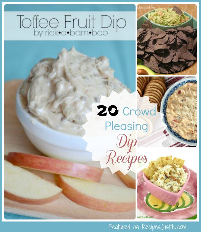 Start your next party off in style with these 20 crowd pleasing dip recipes.