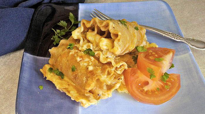 Tasting lasagna roll ups