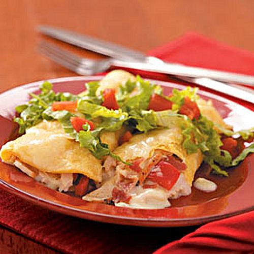 Club style turkey enchiladas