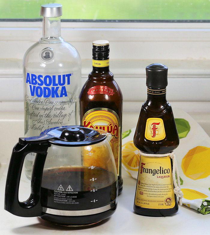 making a chocolate coffee martini