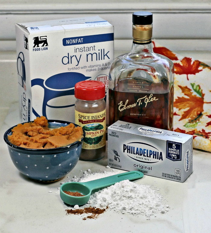 ingredients for this easy pumpkin dip