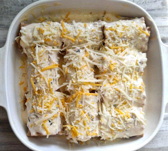 Lasagna roll ups ready to bake