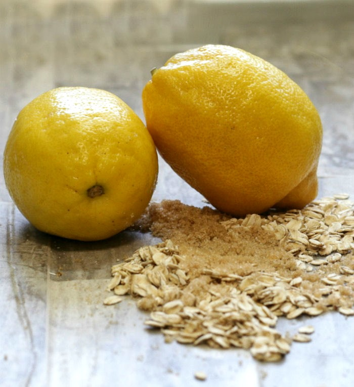 Lemons brown sugar and old fashioned oats
