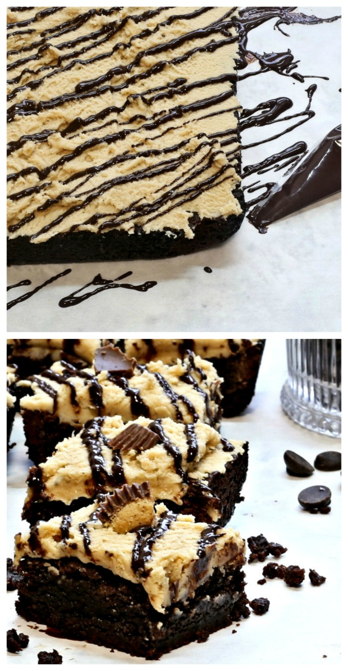 Fudge Peanut Butter Brownies