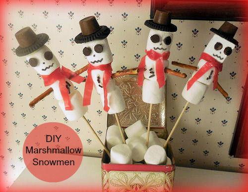 Marshmallow Oreo Snowmen
