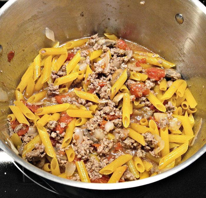 Adding Penne Pasta
