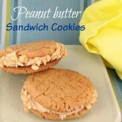Jumbo peanut butter sandwich cookies