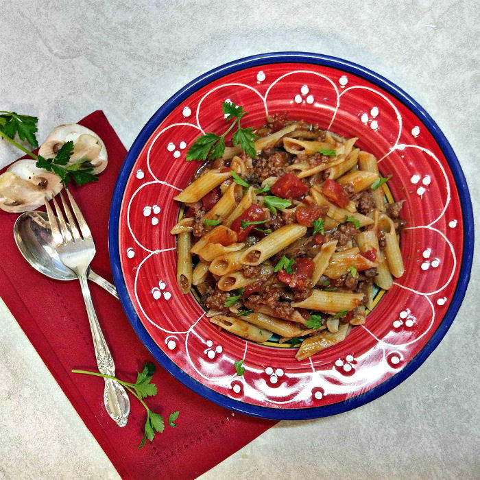 beef and penne pasta recipe