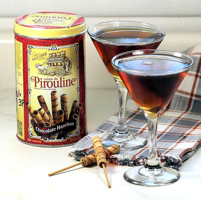 Garnish coffee martinis with Pirioulines