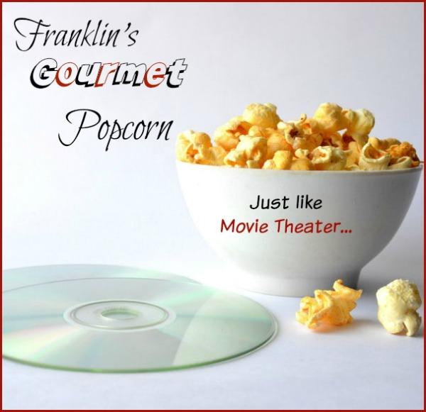 Franklin's gourmet popcorn - gluten free!