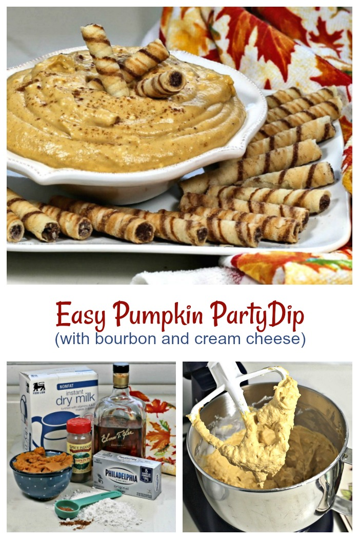 Making a pumpkin cream cheese dip is so easy