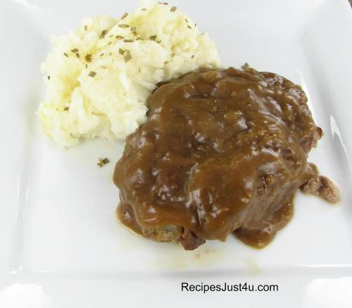 Amish Salisbury steak with gravy