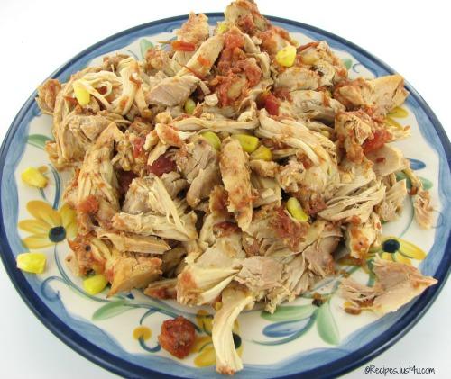 Shredded salsa chicken