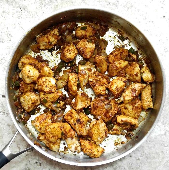 chicken in taco seasoning