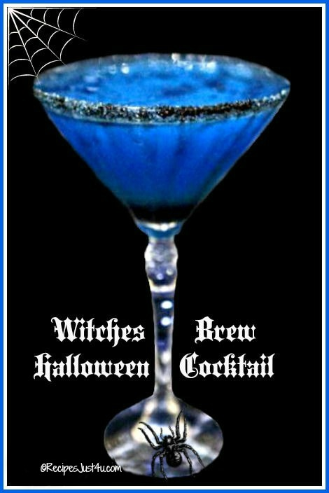 Witch'es Brew Cocktail makes a perfect Halloween drink for your party