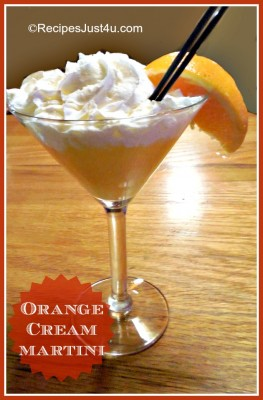 Orange dream martini - a creamsicle for adults