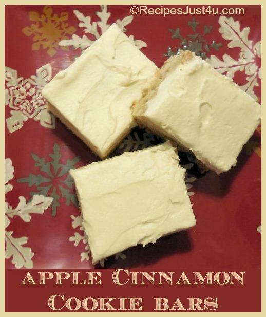 Apple Cinnamon Cookie Bars