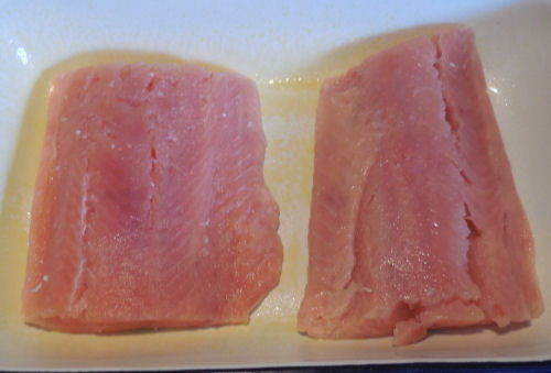 salmon ready for marinade