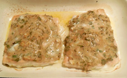 salmon from the oven