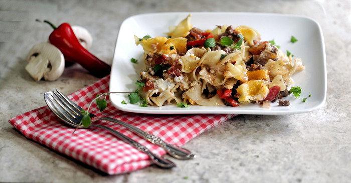 beefy noodle casserole