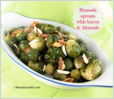Brussels sprouts with Bacon and Almonds