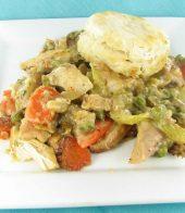 Chicken and biscuit pot pie