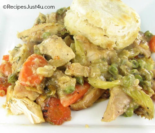 Chicken and Buttermilk Biscuit Pot Pie