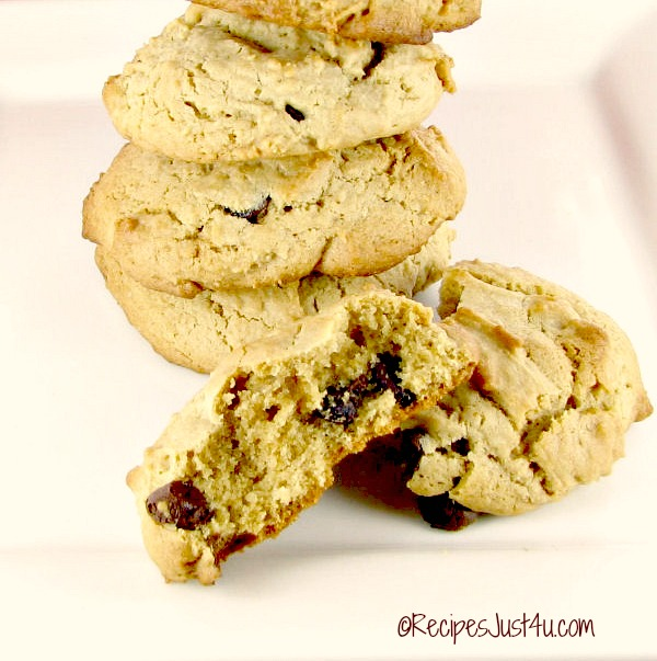 This peanut butter chocolate chip cookie recipe gives these cookies the best texture of any chocolate chip cookies that I have ever eaten.