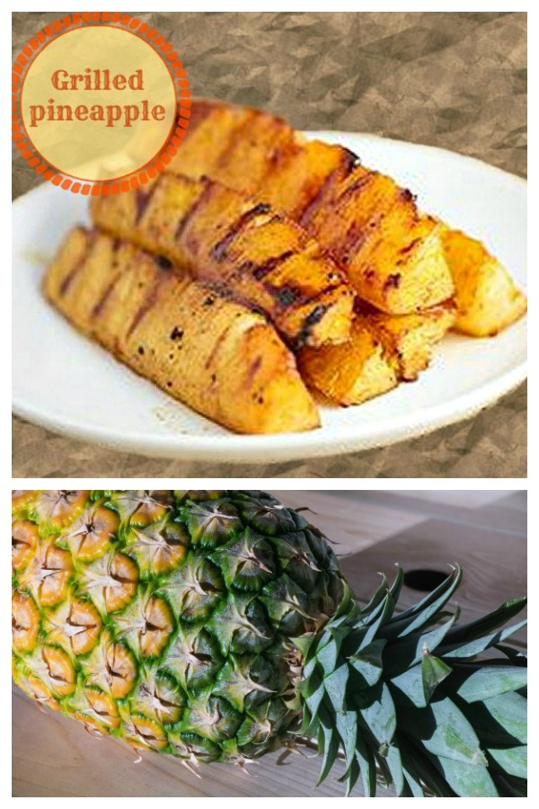 Grilled pineapple makes a great side dish for any outdoor party.