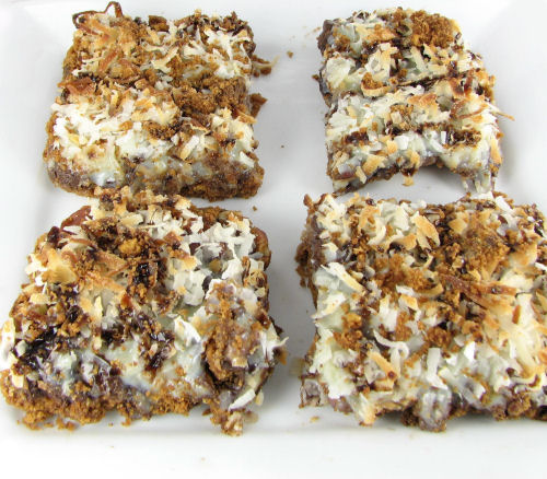 "Chocolate Coconut ""Hello Dolly"" Bars"