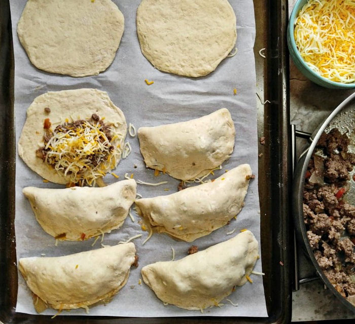 Assembling taco melts