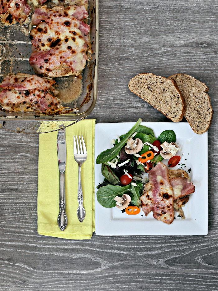 Mozzarella Chicken with bacon and cheese