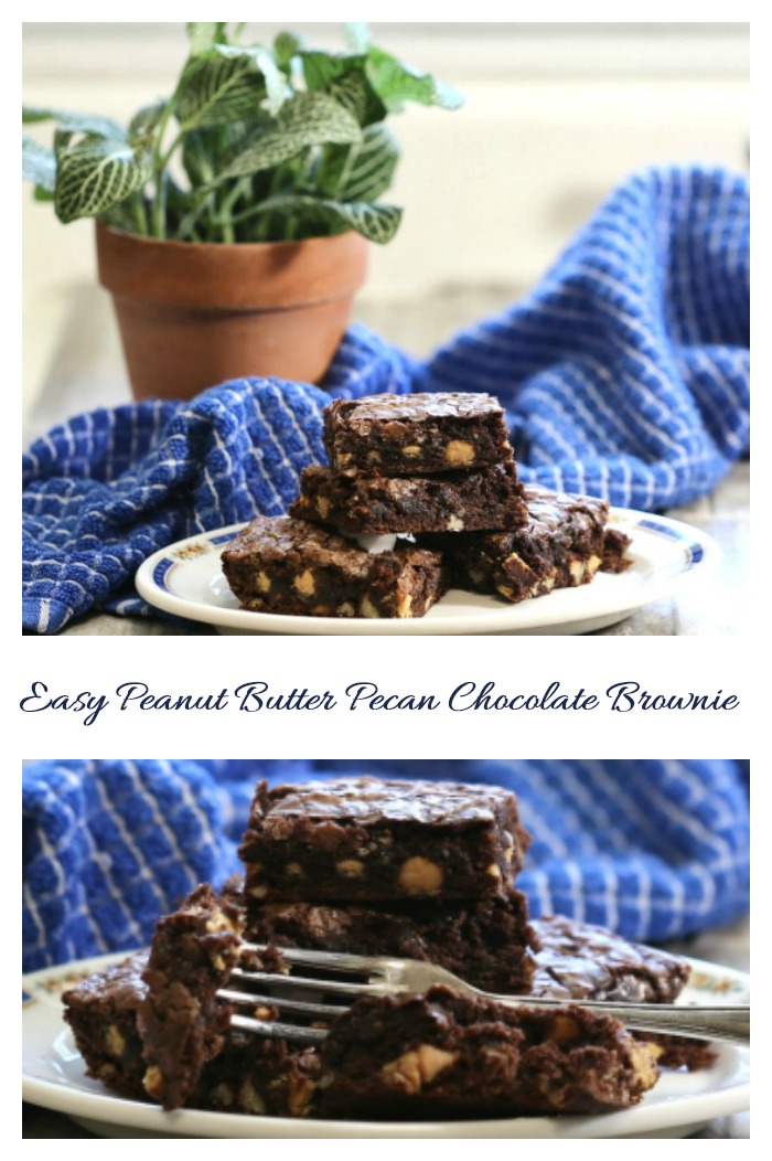 This easy and rich chocolate brownie recipe is quick to make with some easy additions to a boxed brownie mix.