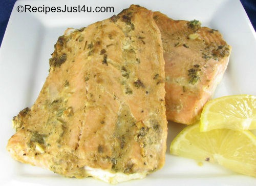 Baked Salmon with Honey Dijon Sauce
