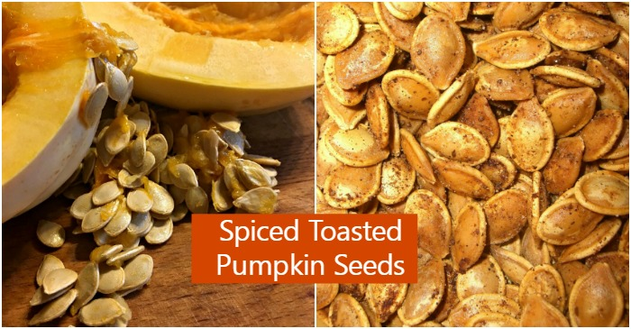 Spiced Toasted Pumpkin Seeds - Fun Halloween Snack ...