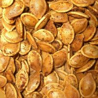Spiced toasted pumpkin seeds