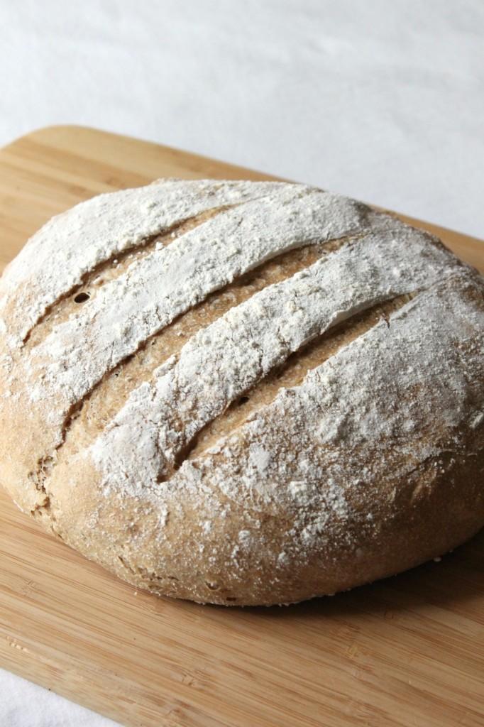 Whole wheat crusty bread