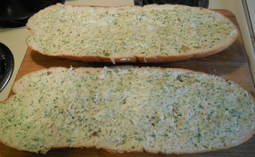 Italian bread with garlic butter