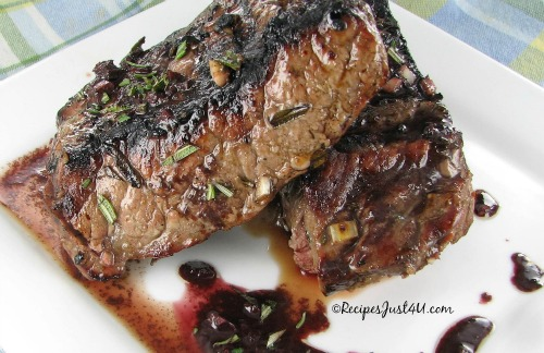 Grilled Rosemary Balsamic Steaks