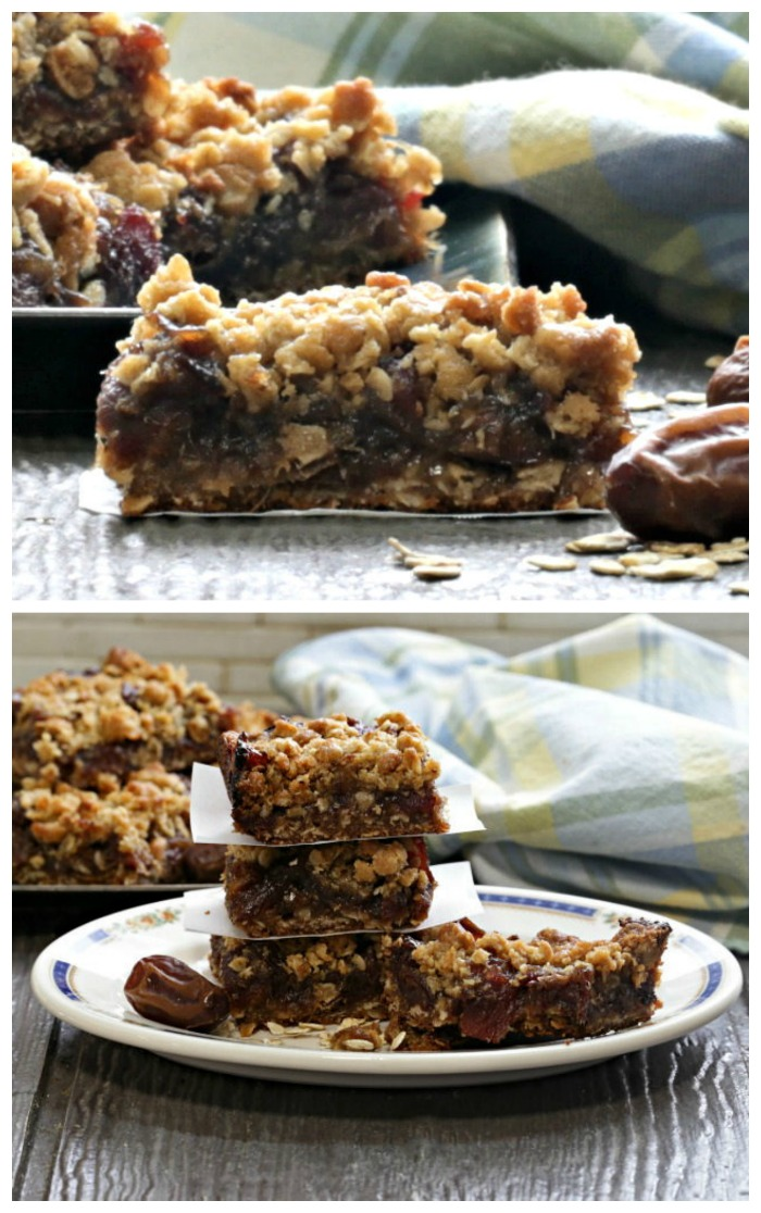 Home made maple syrup date bars