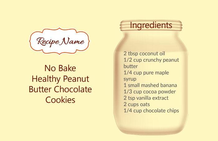Igredients no bake oatmeal cookie