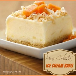 Easy Pina Colada Ice cream bars