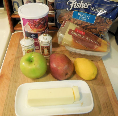 ingredients for fruit compote