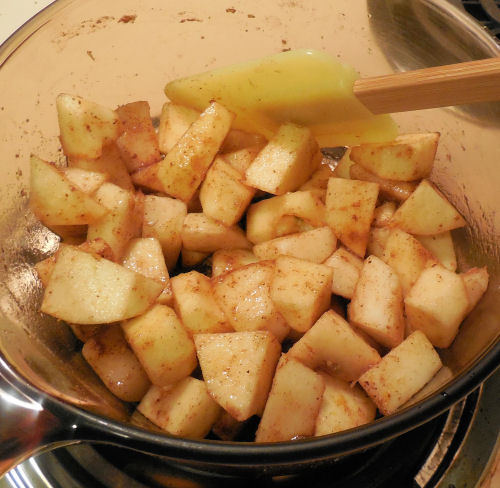 apples and pears in sugar.